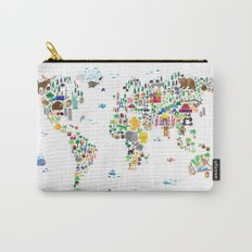 Animal Map of the World for children and kids Carry-All Pouch