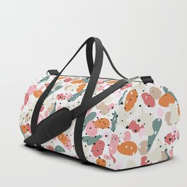 colorful shapes and figures Duffle Bag