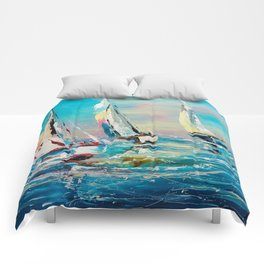 YACHTS ON THE WIND Comforters