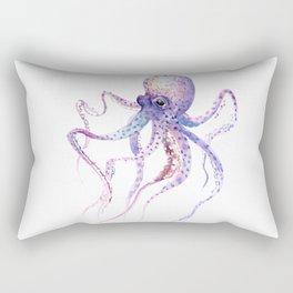Octopus, soft purple pink aquatic animal design Rectangular Pillow