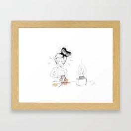 -HappyMonday- Framed Art Print