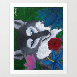 Wolf Box Art Print
