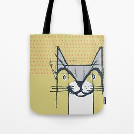 Cubist Cat Study #6 by Friztin Tote Bag