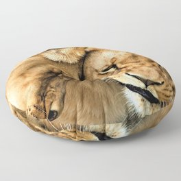12,000pixel - 500dpi, High Quality Photograph - Two Lioness Floor Pillow