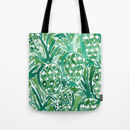 DEM PINEAPPLES Green Tropical Tote Bag