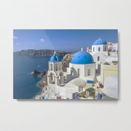 Santorini, Oia Village, Greece Metal Print