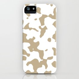 Large Spots - White and Khaki Brown iPhone Case