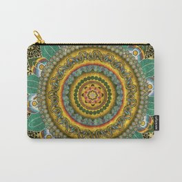 Malachite Baroque Mandala Carry-All Pouch