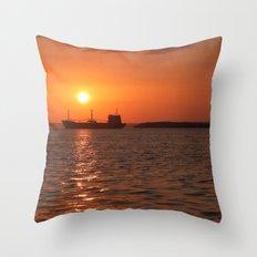 Sunset in Cuba Throw Pillow