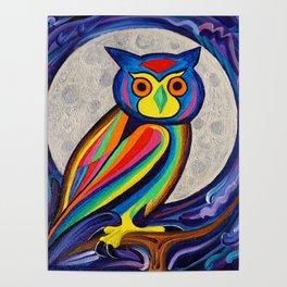 Lunar Owl Poster