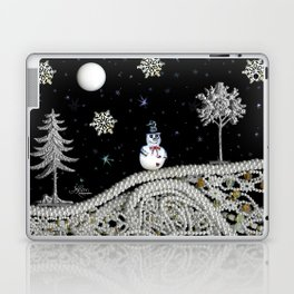 Pearly White Snow Night, Scanography Laptop & iPad Skin