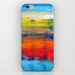 Horizon Blue Orange Red Abstract Art iPhone Skin