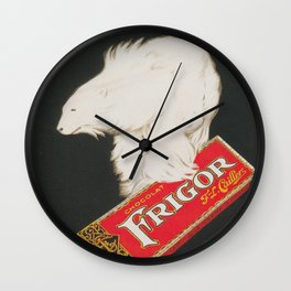 Polar Bear and Chocolate Candy Vintage Advertisement Wall Clock