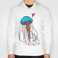 jelly fish Hoodies featuring Jelly Fish by Josée Lennon