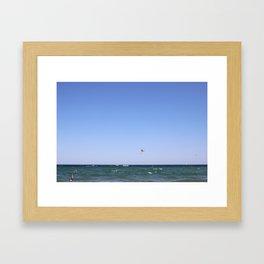 Paragliding Framed Art Print