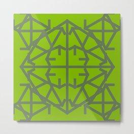 Diamond Bug Kale - Greenery Metal Print