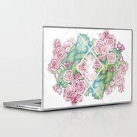 leah flores Laptop & iPad Skins featuring Flores by Barlena