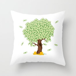 "Cute and inspiring best for luck ""Money Growing"" tee design. Makes an awesome gift to your friends!  Throw Pillow"