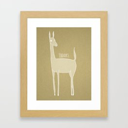 la Biche du Bois Framed Art Print