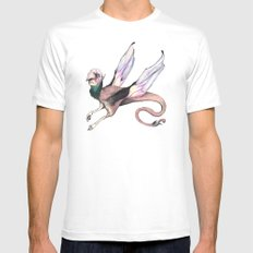 Winged Beast Mens Fitted Tee MEDIUM White