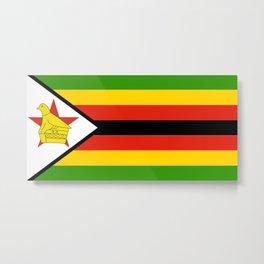 illustration if the flag of Zimbabwe Metal Print