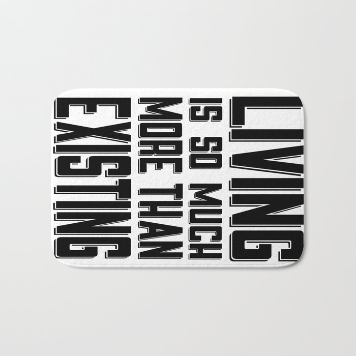 Living & Existing two Bath Mat