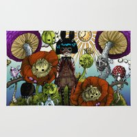 monster inc Area & Throw Rugs featuring Wonderland Inc by Li Boggs
