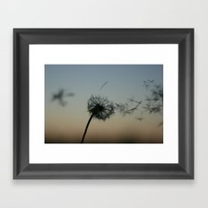 wishes on the wind Framed Art Print