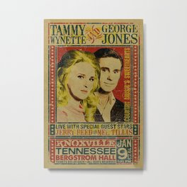Tammy Wynette & George Jones Concert metal tin sign Metal Print