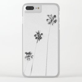 PALM TREES IX / Los Angeles, California Clear iPhone Case