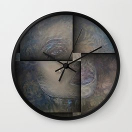 LIQUID DROPS OF SALTY SADNESS 02 Wall Clock