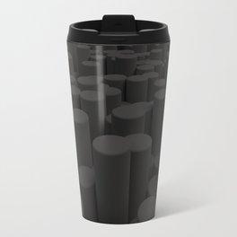 Pattern of black cylinders Travel Mug