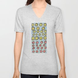 Yellow and Red Sunshine Pattern Unisex V-Neck