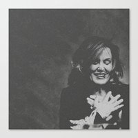 jessica lange Canvas Prints featuring Jessica Lange  by BeeJL
