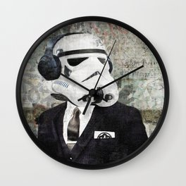 On Stormtrooper Business Wall Clock