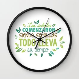 The tree started as a seed Wall Clock