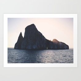 Kicker Rock, Galapagos Art Print