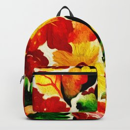 Rustic Nature Fall Leaves Painting Backpack