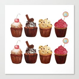 double row of cupcakes Canvas Print