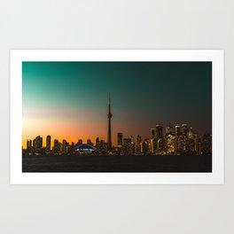 Colorful Toronto Art Print