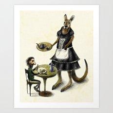 Kangaroo cafe Art Print