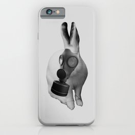 gas mask rabbit iPhone Case