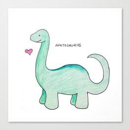 Apatosaurus Dinosaur Canvas Print