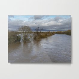 River Ouse Flooding Metal Print