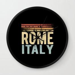 Rome Italy Wall Clock