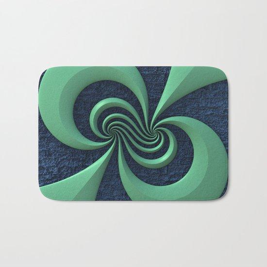 Green on Blue Bath Mat