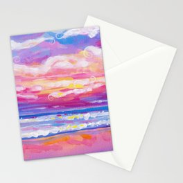 mornings in rodanthe Stationery Cards