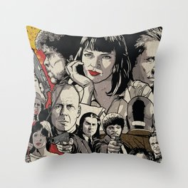 Pulp Fiction Movie Poster - Quentin Tarantino Throw Pillow