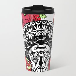 Flower skull. Travel Mug