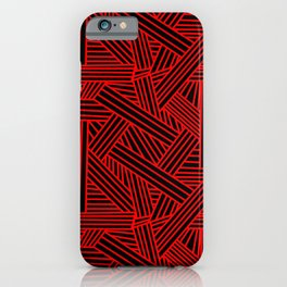 Sketchy Abstract (Red & Black Pattern) iPhone Case